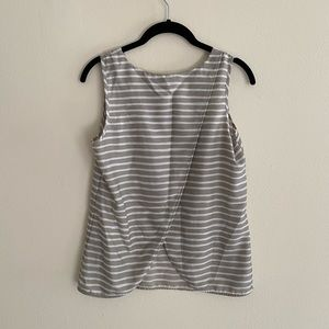 J Crew tulip back open back tank top stripes 6